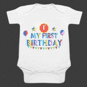 Personalized First Birthday Romper onesies, bodysuits, custom baby clothes online India