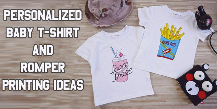 Personalized Kids T-shirt Printing - Custom Baby Romper, Onesies Clothes India