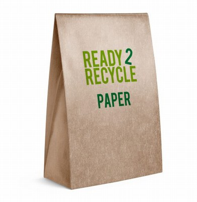 economy recycled paper bags with handles