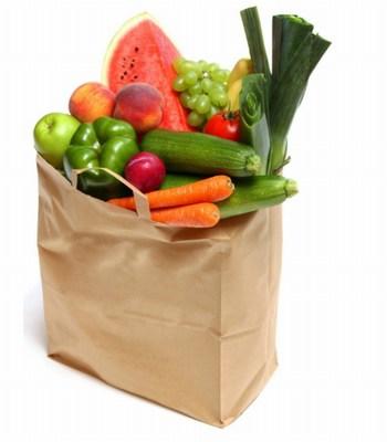 Kraft Flat Handle Grocery Bag, Paper Grocery Bags