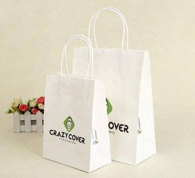 White / Kraft Versa Recycled Handle Bags
