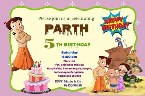 Personalized Birthday Invitation Card, Printable Birthday Party Invitations