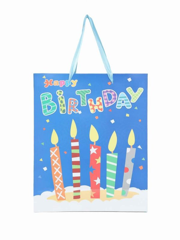 Happy Birthday Print Paper Bags For Return Gifts