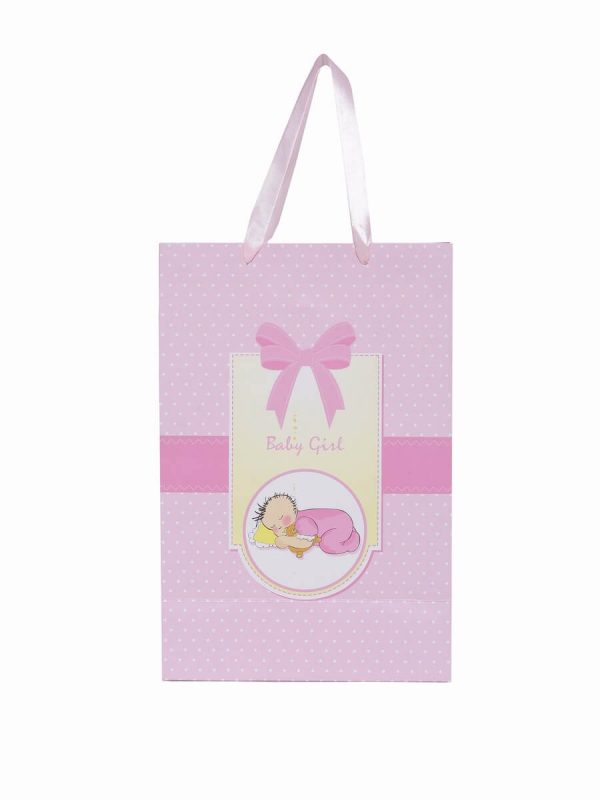 Baby Shower Gift Pink Paper Bag