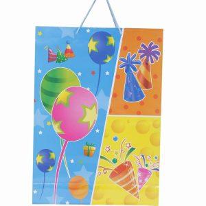 Blue Birthday Return Gift, Paper Gift Bag
