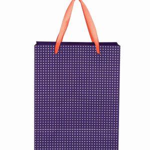 Blue Polka Dot Paper Bag