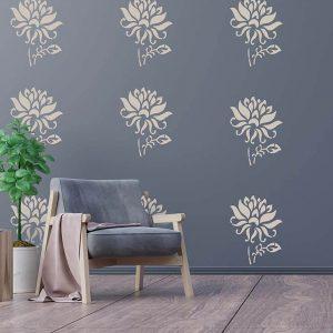 Best Floral Wall Stencil