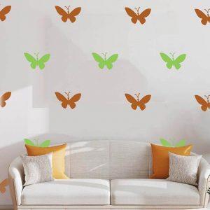 Butterfly Flying Wall Art Stencil